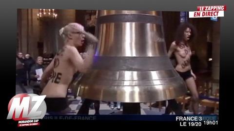 Morandini zap : le mouvement Femen nu à Notre Dame...