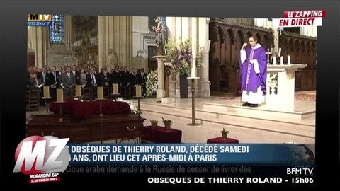 Morandini zap : Obsèques de Thierry Roland