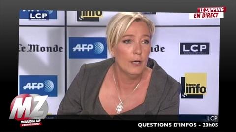 """Morandini zap : M.Le Pen """"Sale blanc, face de craie... c'est ce que vivent des millions de nos compatriotes tous les jours"""""""