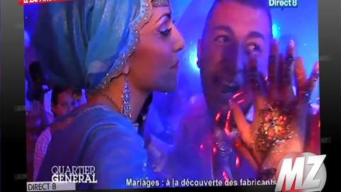 Morandini zap : Pour son mariage, il arrive dans une bulle en plastique