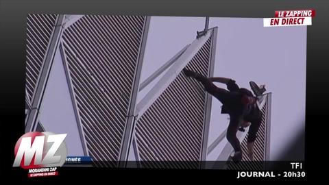 Morandini zap : Des salariés de la Défense surpris par le spiderman français