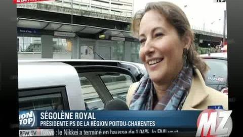 Morandini Zap: Ségolène Royal vient à BFM TV en voiture électrique