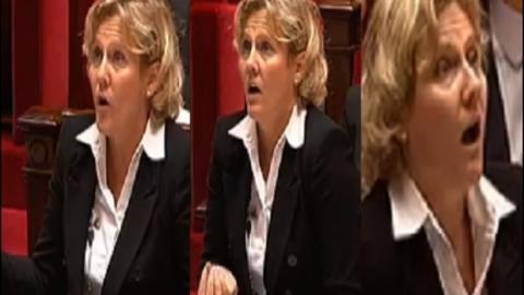 Nadine Morano se met en colère à l'Assemblée