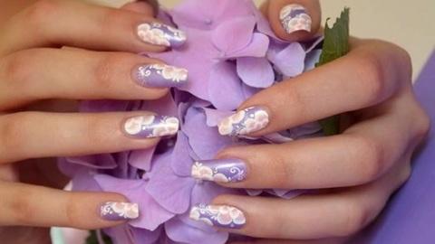 Nail art one stroke tout doux