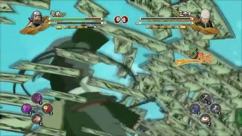 Naruto Shippuden Ultimate Ninja Storm 3 - Hanzo Gameplay