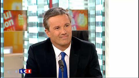 """Nicolas Dupont-Aignan : """"Nicolas Sarkozy ne sera pas candidat à la prochaine présidentielle"""""""