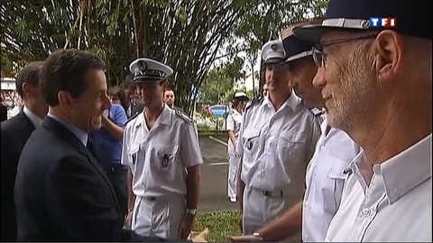 Nicolas Sarkozy en Guyane pour ses voeux à l'Outre-Mer