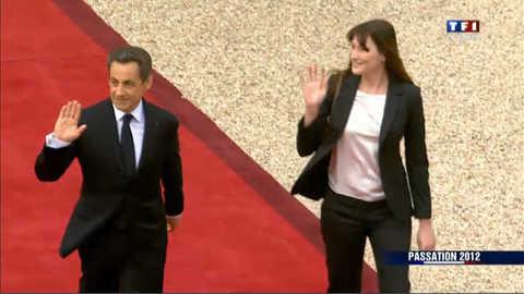 Nicolas Sarkozy quitte l'Elysée : les images
