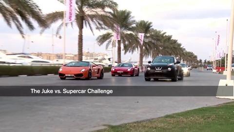 Nissan Juke-R vs Ferrari, Lamborghini et Mercedes !