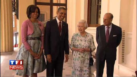 Obama rencontre la Reine d'Angleterre : les images