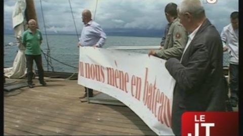 « On nous mène en bateau ! » (Thonon-les-Bains)