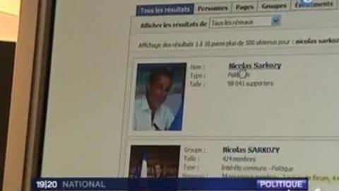 """[La page """"Facebook de Nicolas Sarkozy]"""