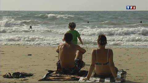 A Palavas-les-flots, dernier bain de mer avant la fin des vacances