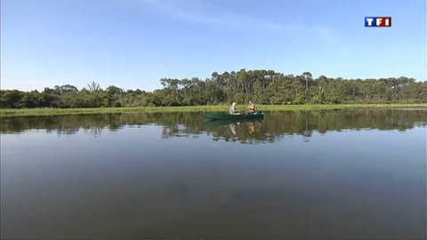 Partie de pêche sur l'étang blanc