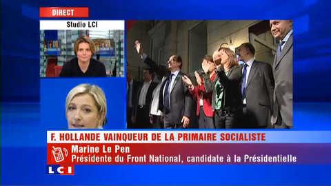 """Le Pen compare """"le 1er discours d'Hollande à un catalogue du BHV"""""""