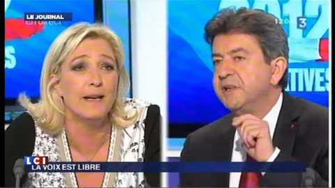 Le Pen et Mélenchon font le show, les autres candidats effarés