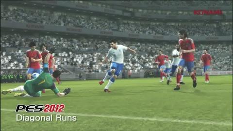 PES 2012 Gameplay Video 02 - Diagonal Runs