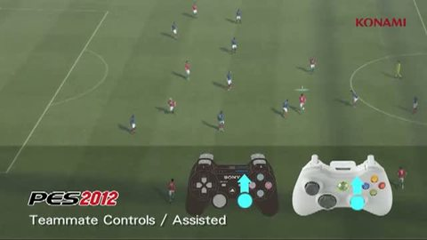 PES 2012 Gameplay Video 07 - Teammate Controls / Assisted