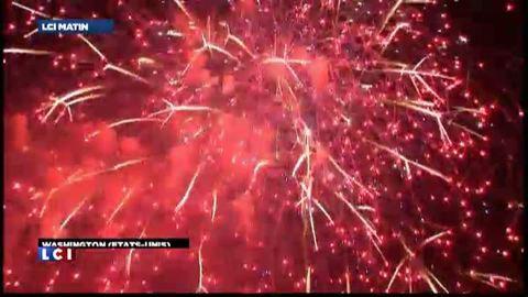 Pluie de feux d'artifice à Washington pour la fête nationale