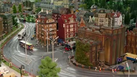 Le plus long train miniature du monde de Hambourg