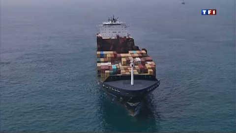 Premières images du Flaminia, cargo sous haute-surveillance