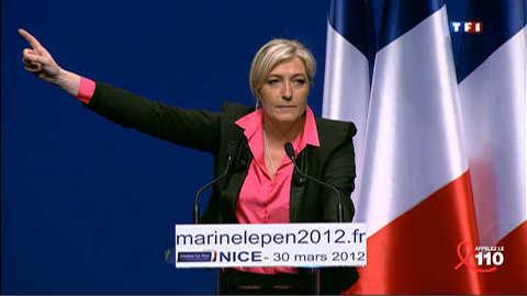 Présidentielle : Marine Le Pen se voit dans le trio de tête