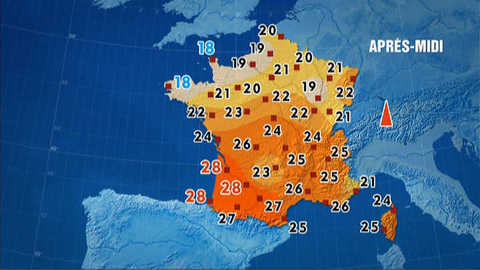 Les prévisions météo du 14 juin 2012