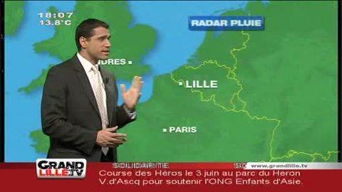 Les Prévisions météo du 16 mars 2012 (Lille)