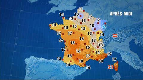 Les prévisions météo du 22 novembre 2011
