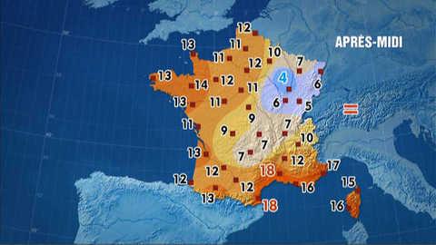 Les prévisions météo du 23 février 2012