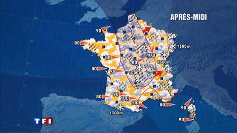Les prévisions météo du 30 mars 2010