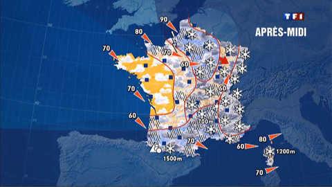 Prévisions météo du 7 décembre 2012