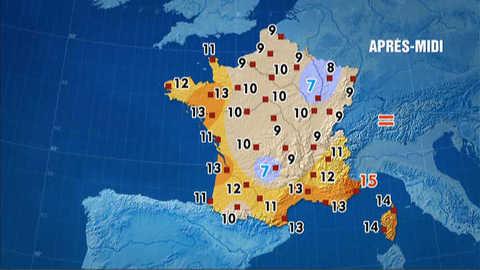 Les prévisions météo du 8 mars 2012