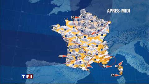 Les prévisions météo du 8 septembre 2010