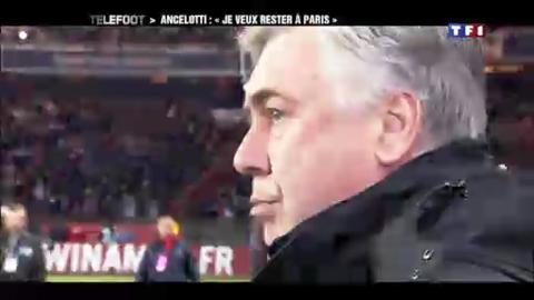 """PSG - Ancelotti : """"Je veux rester à Paris"""" (15/04/2012)"""