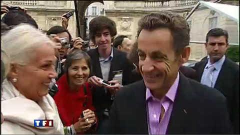 Quand Sarkozy fait visiter l'Elysée