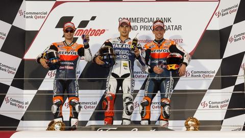 Regardez le podium du Grand Prix Moto du Qatar