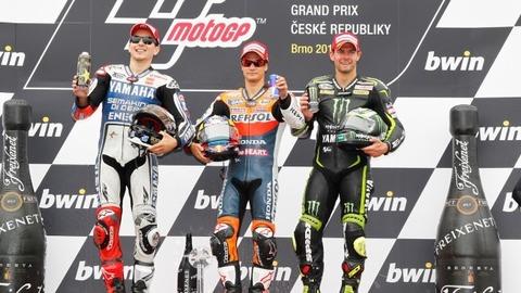 Regardez le podium du Grand Prix de République Tchèque (Brno)