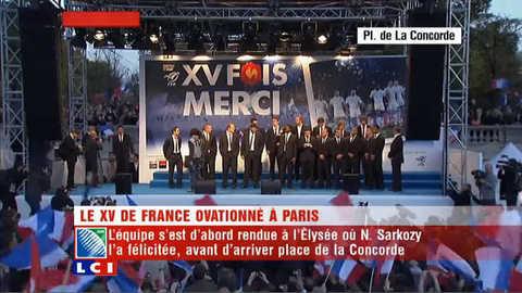 Retour triomphal des Bleus à Paris