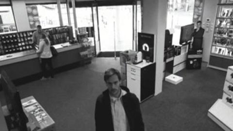 Robber fools surveillance cameras/ LG ad