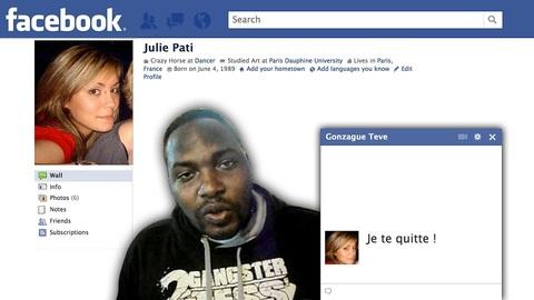 Rupture sur Facebook