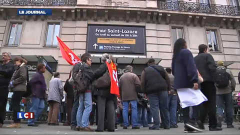 Les salariés de la FNAC dans la rue