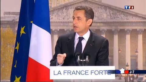 Sarkozy rassemble place de la Concorde