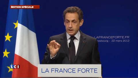 """Sarkozy à Strasbourg : """"ces crimes sont inexplicables et inexcusables"""""""