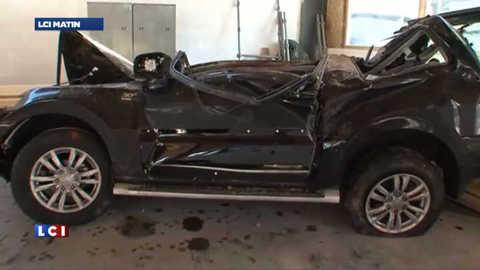Savoie : une voiture écrasée par un rocher, le conducteur sous le choc
