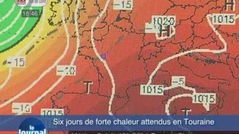Six jours de forte chaleur attendus en Touraine