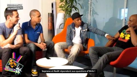 Soprano et R.E.D.K Interview dans la Webreal Tv