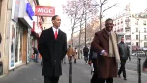 Le sosie d'Obama à Paris : les images