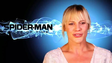 Spider-Man Edge of Time - Gamescom 2011 Katee Sackhoff Behind The Scenes - PS3 Xbox360 Wii DS 3DS.mp4