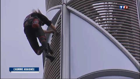 """""""Spiderman"""" s'offre une tour de la Défense"""